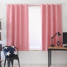 【companionship】(Giao hàng miễn phí cho cả ba chiếc đến Hà Nội)Bộ rèm phòng ngủ hoa văn ngôi sao_Màu xanh đậm (Pink)