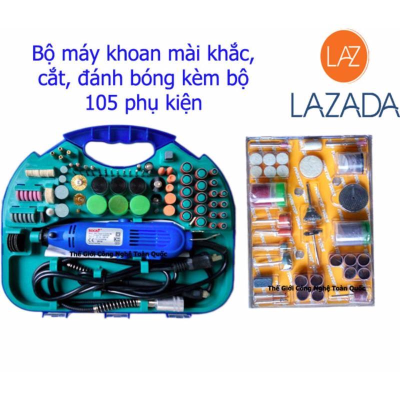 Full bộ Máy Khoan Mài Khắc mini cầm tay kèm bộ phụ kiện 105 chi tiết nguyên vỉ