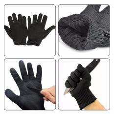 Găng tay bảo vệ chống cắt đứt bằng sợi thép chống gỉ (Đen)