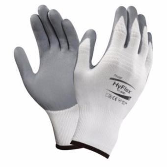 Găng tay lắp ráp Ansell Hyflex 11-800 (màu trắng, phủ xám)