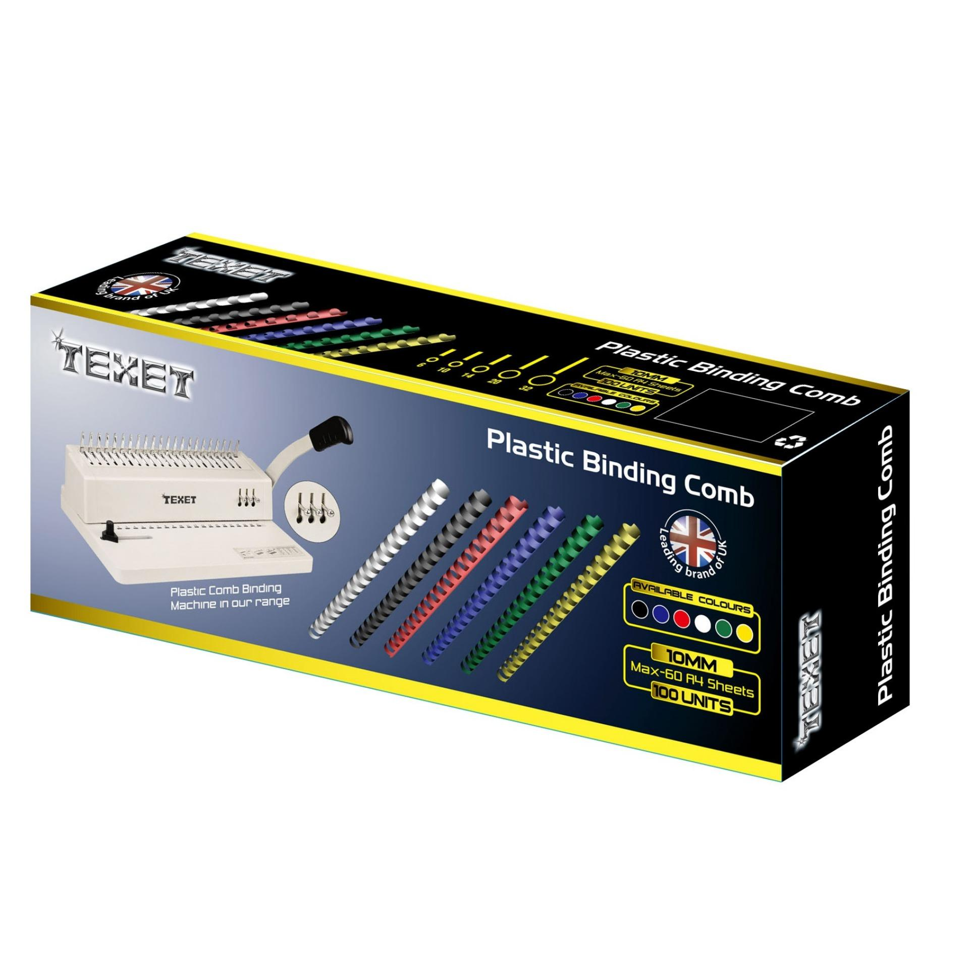 Gáy lò xo nhựa TEXET SP10 Hộp 100 lò xo (Vàng)