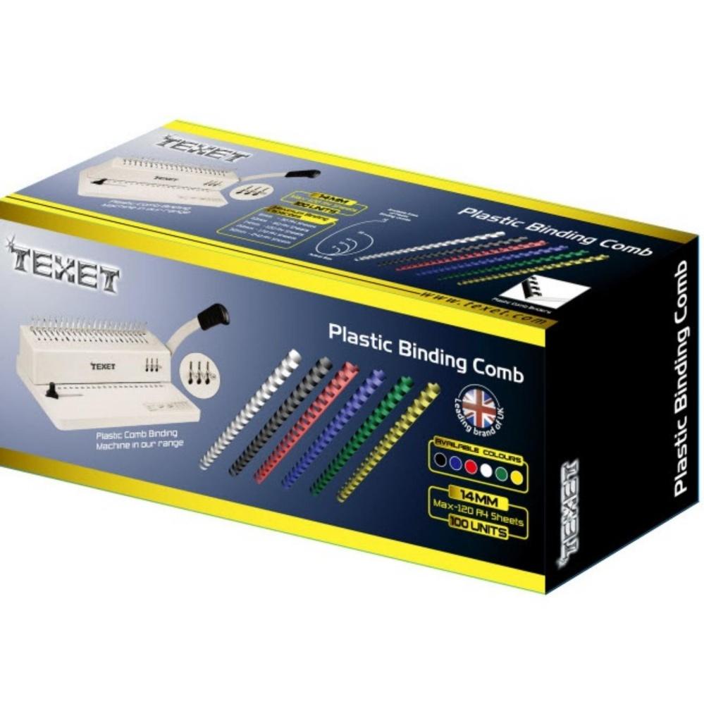Gáy lò xo nhựa TEXET SP14 phi 14mm (Hộp 100 cái màu đỏ)