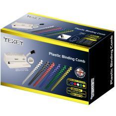 Gáy lò xo nhựa TEXET SP20 phi 20mm (Hộp 100 cái màu Trắng)