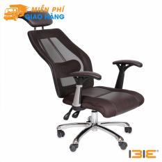Ghế da IB817GA lưng ngả đa chiều, chân hợp kim nhôm cao cấp màu nâu