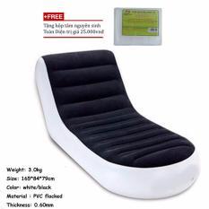 Ghế giường hơi đa năng/Ghế hơi tựa lưng siêu GT360 PVC Flocked + Tặng hộp tăm nguyên sinh TD