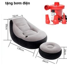Ghế hơi tựa lưng Intex 2 chi tiết cao cấp kèm bơm điện 2 chiều