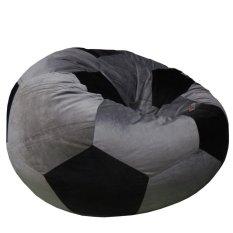 Ghế lười hình Quả banh Phú Mỹ GH-BANH-XMDE-100 (Xám đen)