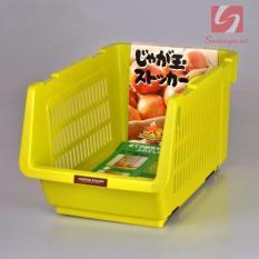 Giá đựng hoa quả, đồ khô có bánh xe Niheshi 6188 hàng Nhật Xanh lá(Xanh lá thẫm)