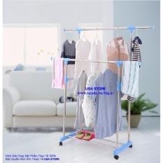 Giá phơi quần áo đôi inox