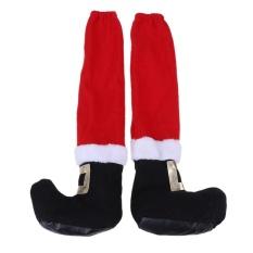 Giá Khuyến Mại Giáng sinh ghế chân bàn Santa Claus chân ghế chân bao gồm (màu đỏ + đen) – intl  crystalawaking