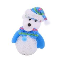 Giá Giáng sinh trang trí cung cấp sáng Snowman Elk Pendant Gift(Multicolor) – intl  crystalawaking