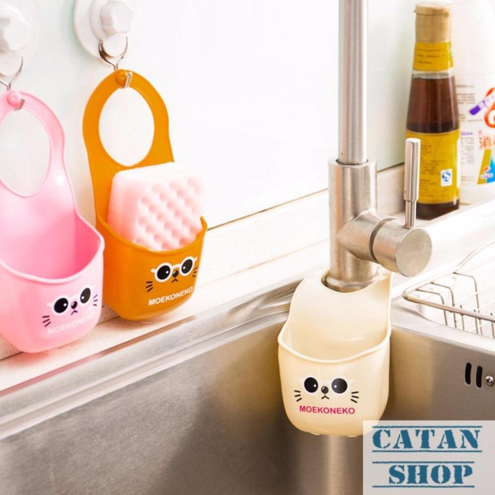 Giỏ treo mèo con, rổ treo bọt biển, rổ treo bồn rửa chén, lavabo có nút điều chỉnh siêu tiện lợi GD28-RTMC