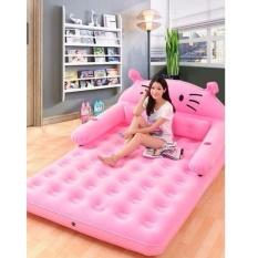 Giường hơi 150x230x22cm AL-230CM + Tặng bơm điện 250k (hồng)