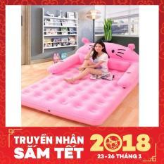 Giường hơi hình thú 150x230x22cm AL-230CM + Tặng kèm bơm điện 250k (Hồng)