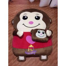 Giường Hình Thú Cao Cấp Nhật Bản Khỉ yoyo đỏ Vao Nha Toi BA0028