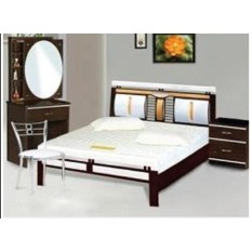 Giường sắt kiểu gỗ cao cấp 160X200X10 – DT04