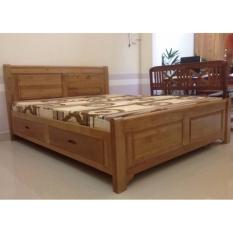 giường sồi mỹ hộc kéo (1.6)