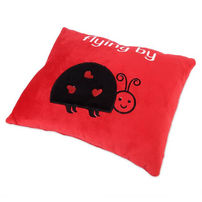 Nơi mua Gối tựa lưng thêu họa tiết con bọ THIVI 04 (Đỏ)