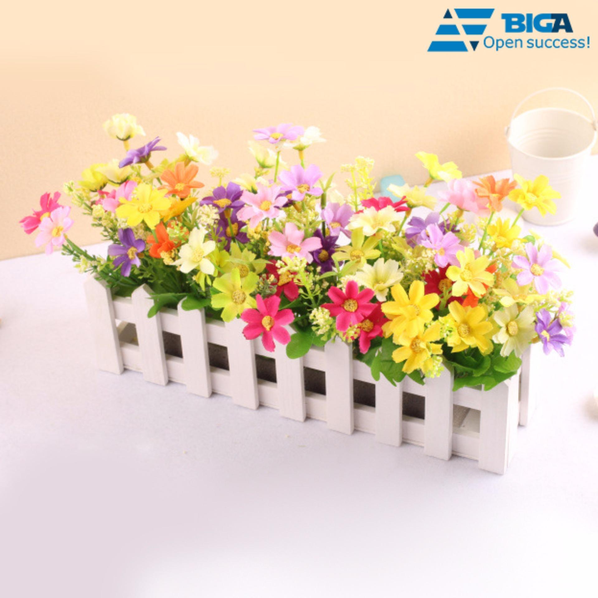 Hàng Rào Hoa Cỏ Mùa Xuân 30cm Trang Trí Bàn Phòng Khách Décor US04819 (Màu Sắc Ngẫu Nhiên)