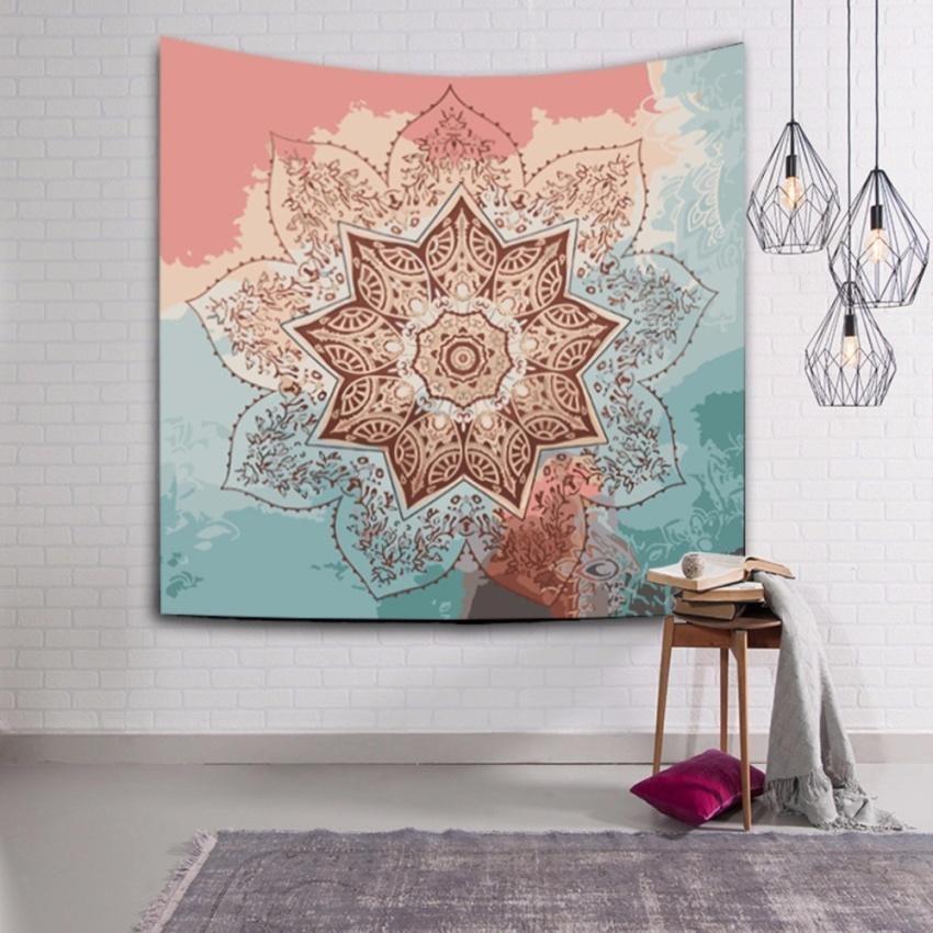 Giá KM HappyLife Indian Mandala Tapestry Hippie Wall Bohemianbedspread Throw Dorm Decor – intl
