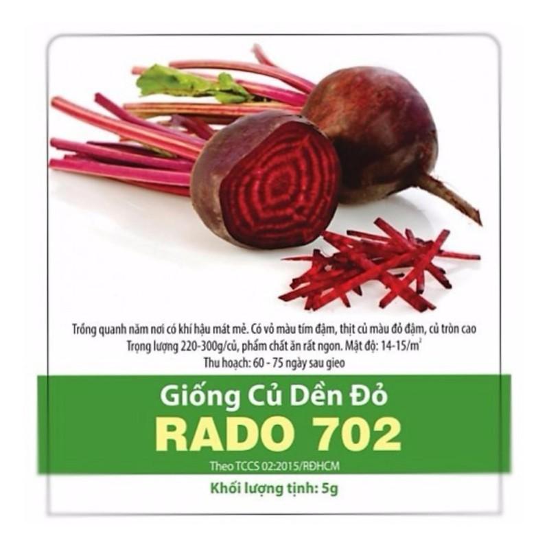 HẠT GIỐNG CỦ DỀN ĐỎ  RADO 702_5g