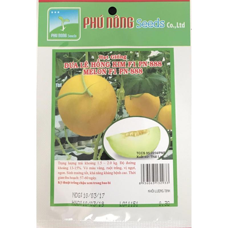 Hạt giống Dưa lê Hồng kim F1 PN 888 - Thái Lan - Gói 0.3g