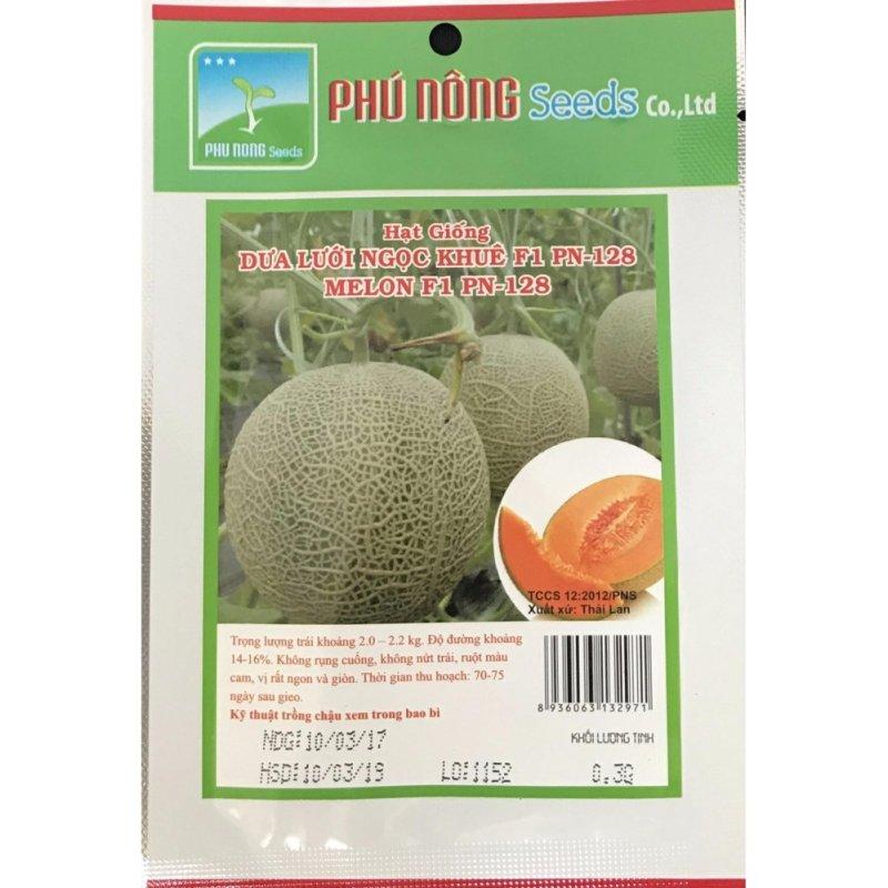 Hạt giống Dưa lưới Ngọc Khuê F1 PN 128 - Thái Lan - Gói 0.3g