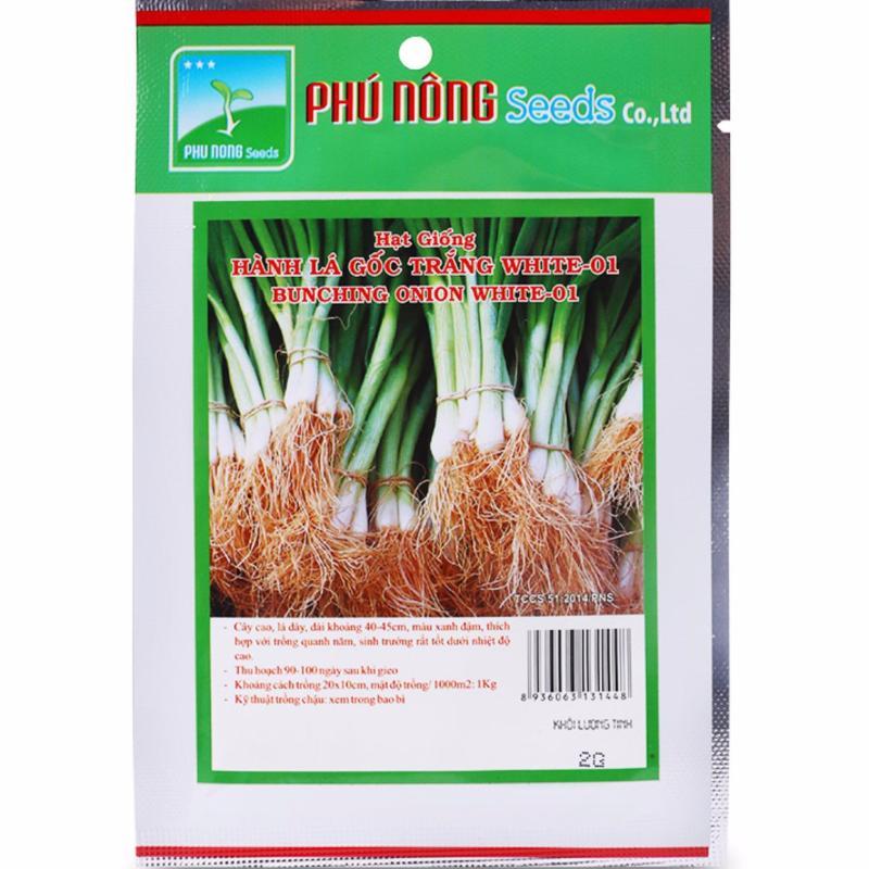 Hạt giống hành lá gốc trắng PN White-01 - 2g