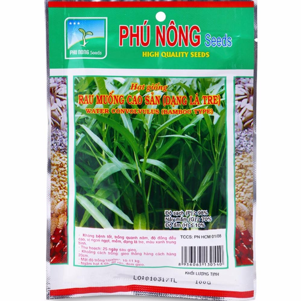 Hạt giống rau muống cao sản (dạng lá tre) PN - 100g