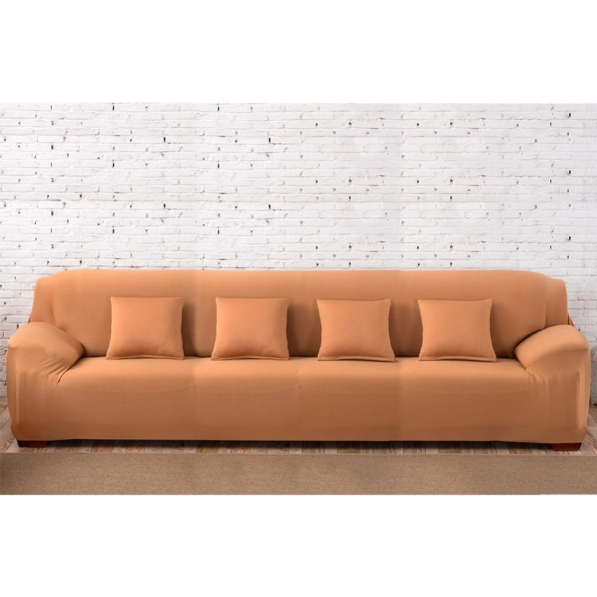 High Quality Store New Fashion L-Shape Textile Spandex 4 Seaters Sofa Cover Furniture Protector