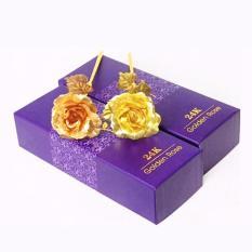 Hoa hồng mạ vàng 24k ý nghĩa tặng kèm đế