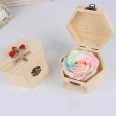Khuyến mãi mua 2 tặng 1-Hoa hồng sáp phát sáng kèm hộp gỗ hình lục giác