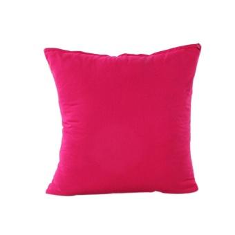Home Decor Pillow Case Cotton Linen Cushion Cover Stripe - Rose Red- intl