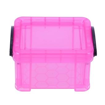 Home Furnishing Mini Lock Box Super Cute Storage Organizer (Pink) -intl