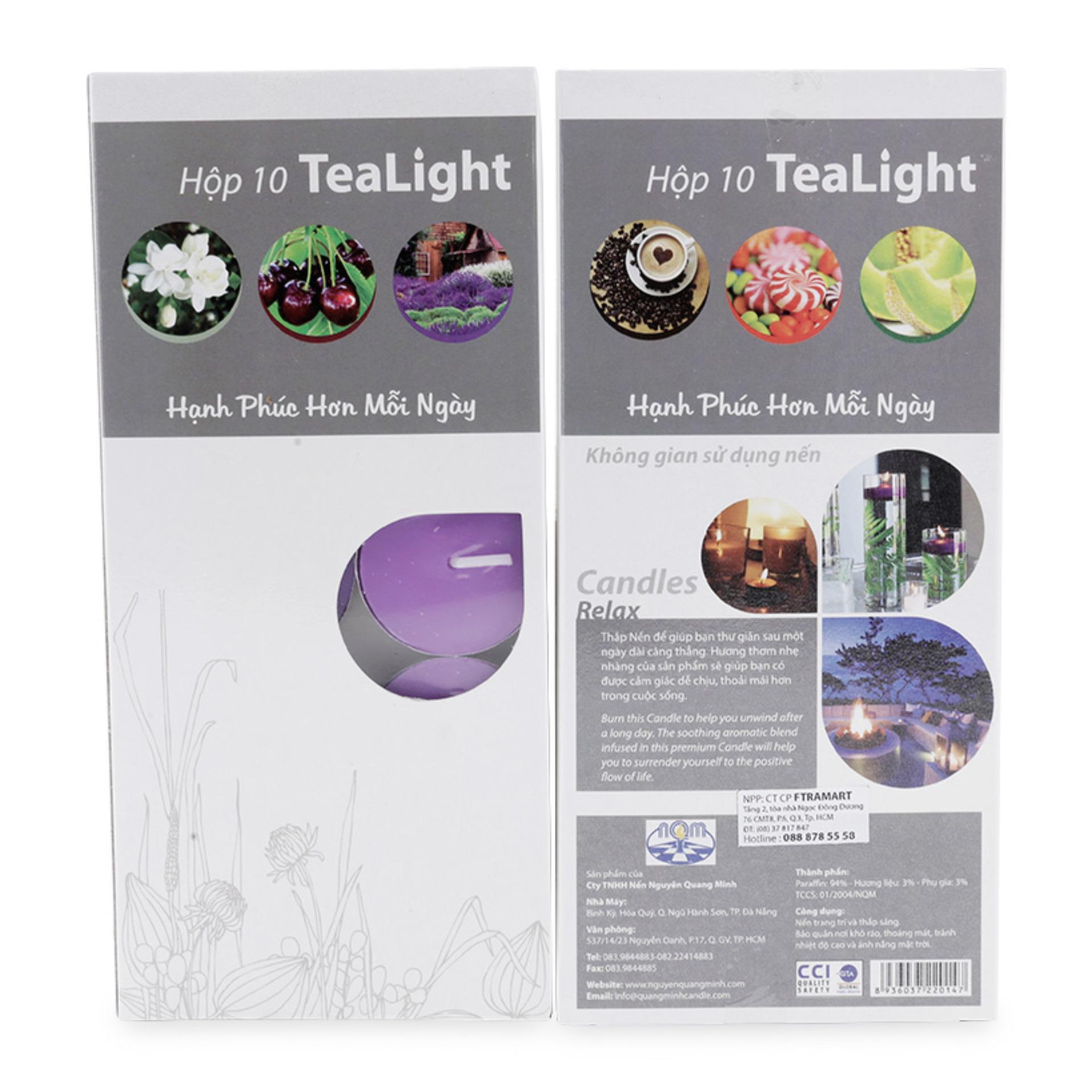 Cửa hàng bán Hộp 10 nến thơm hương oải hương Miss Candle FtraMart FTM-NQM0147 (Tím)