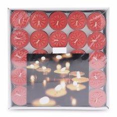 Hộp 100 nến tealight bông mai NYCandle FtraMart (Đỏ)