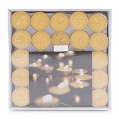 Giá KM Hộp 100 nến tealight bông mai NYCandle FtraMart (Vàng)