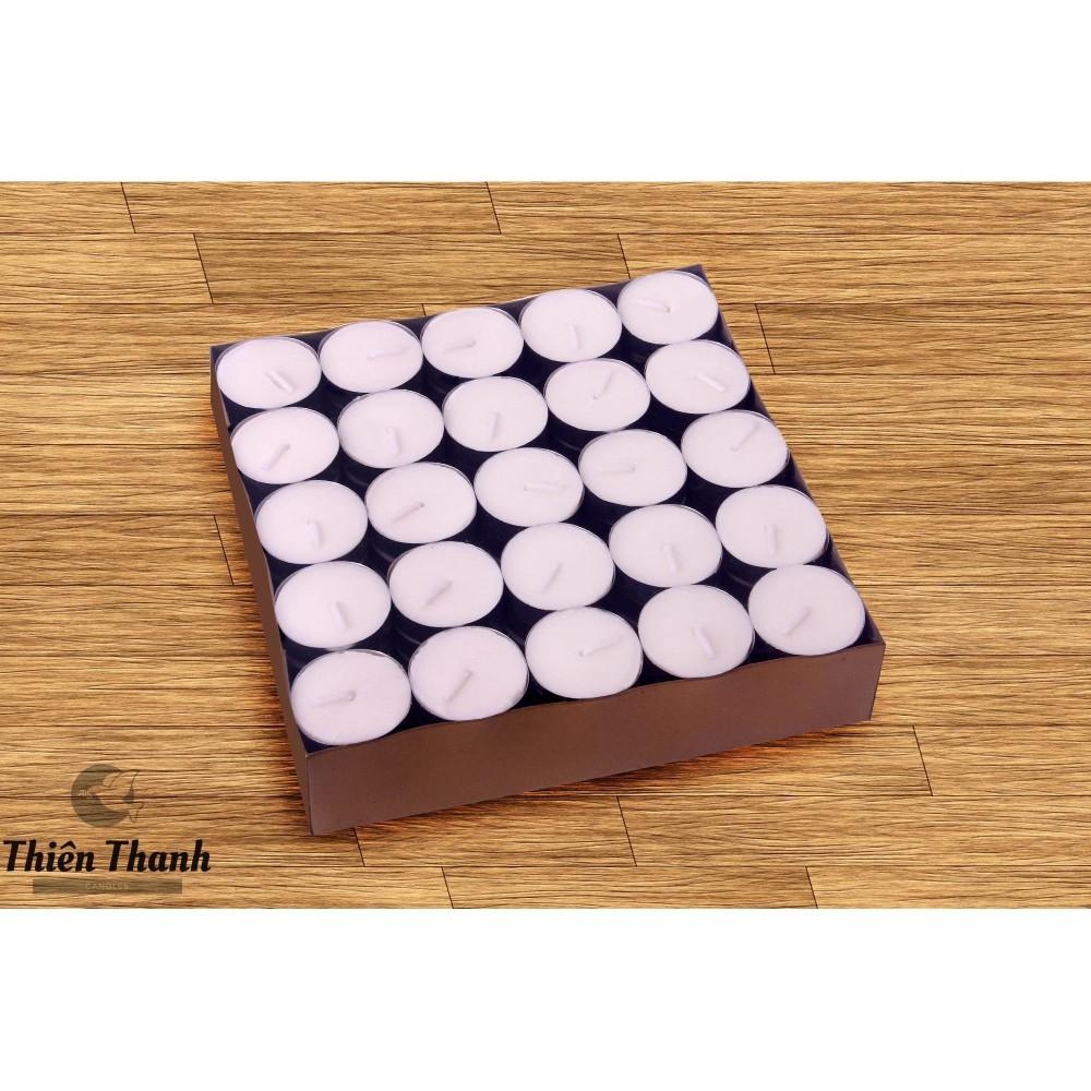 Hộp 100 Viên Nến Tealight Thiên Thanh Cháy 5h ( Trắng Đỏ Vàng )