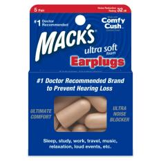 Hộp 5 đôi nút bịt tai chống ồn Mack's Ultra Soft Foam® (#925) – Nhập khẩu từ Mỹ
