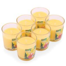 Trang bán Hộp 6 ly nến thơm votives hương sả chanh Miss Candle FtraMart FTM-NQM0413 (Vàng)
