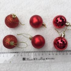 Khuyến Mãi Hộp 6 quả châu 4cm treo cây thông trang trí giáng sinh M&N Toys