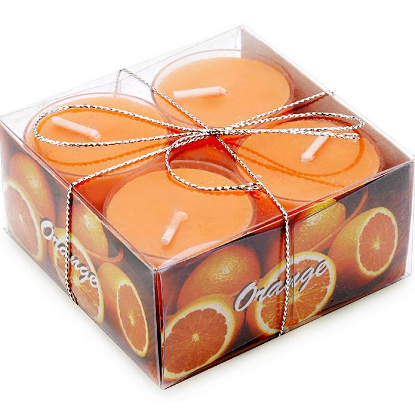 Chỗ nào bán Hộp 8 nến tealight thơm đế nhựa NQM FtraMart (Cam)