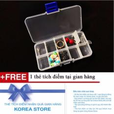 Hộp đựng đồ 10 ngăn trong suốt tiện dụng + Tặng kèm 1 thẻ tích điểm tại gian hàng KoreaStore