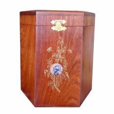 Hộp đựng gói trà bằng gỗ hương ta đỏ quý hiếm loại lớn HT02