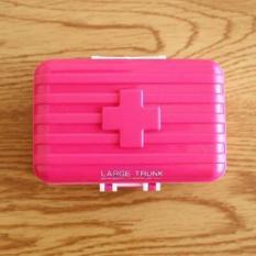 Hộp đựng thuốc 6 ngăn mini hình vali
