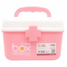 Hộp đựng thuốc – mỹ phẩm đa năng cỡ to Box Storage 21x16x15cm (hồng) – BQ280-HONG