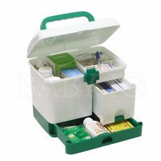 Hộp đựng thuốc y tế 3 tầng dành cho gia đình (Trắng)