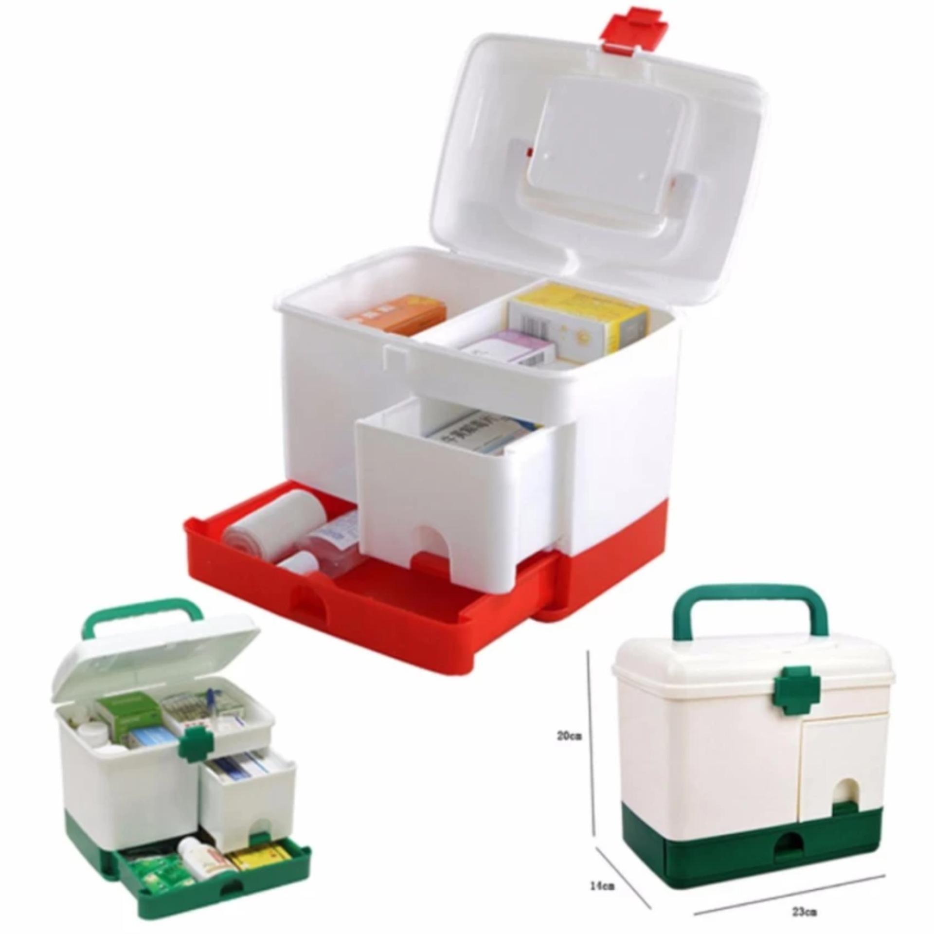 Hộp đựng thuốc y tế 4 món 3 tầng dành cho gia đình – HD076