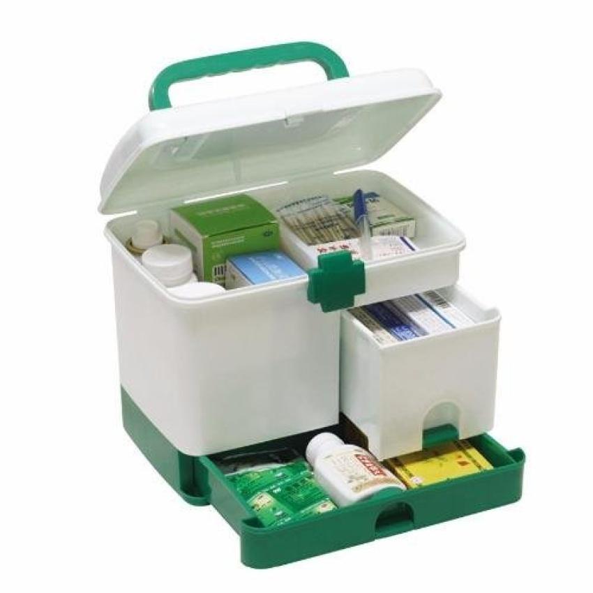 Hộp đựng thuốc y tế gia đình nhiều ngăn kèm thêm 4 món tiện ích