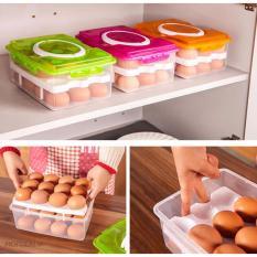 Hộp đựng trứng thông minh 2 tầng 24 ngăn
